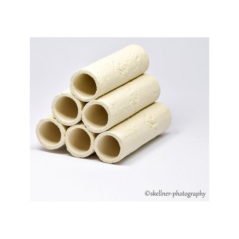 6er Röhrenstapel weiß mit Muster