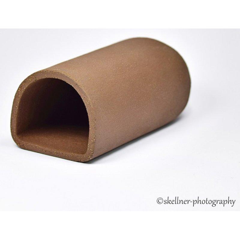 Ablaichhöhle / Welshöhle 10 cm braun/schwarz hinten abgerundet