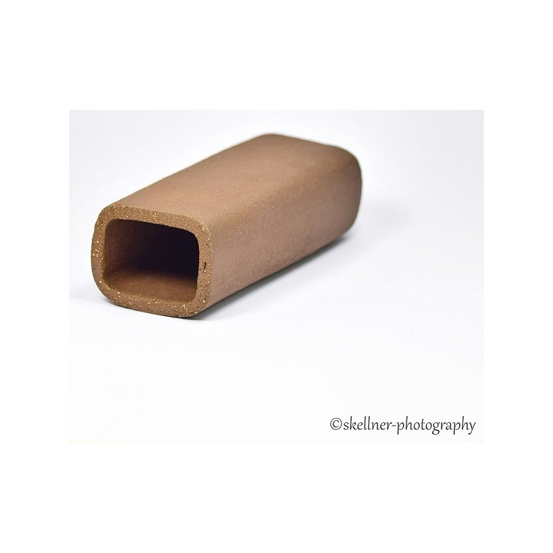 Ablaichhöhle / Welshöhle eckig 10 cm braun / schwarz
