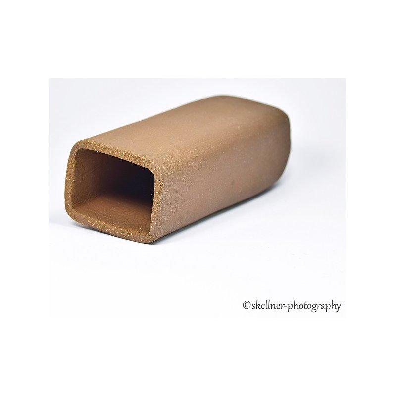Ablaichhöhle / Welshöhle eckig 12 cm braun / schwarz