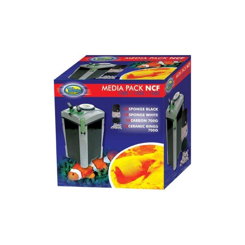 Aqua Nova Filtermedien Pack für NCF 1000 / 1200 / 1500 Außenfilter