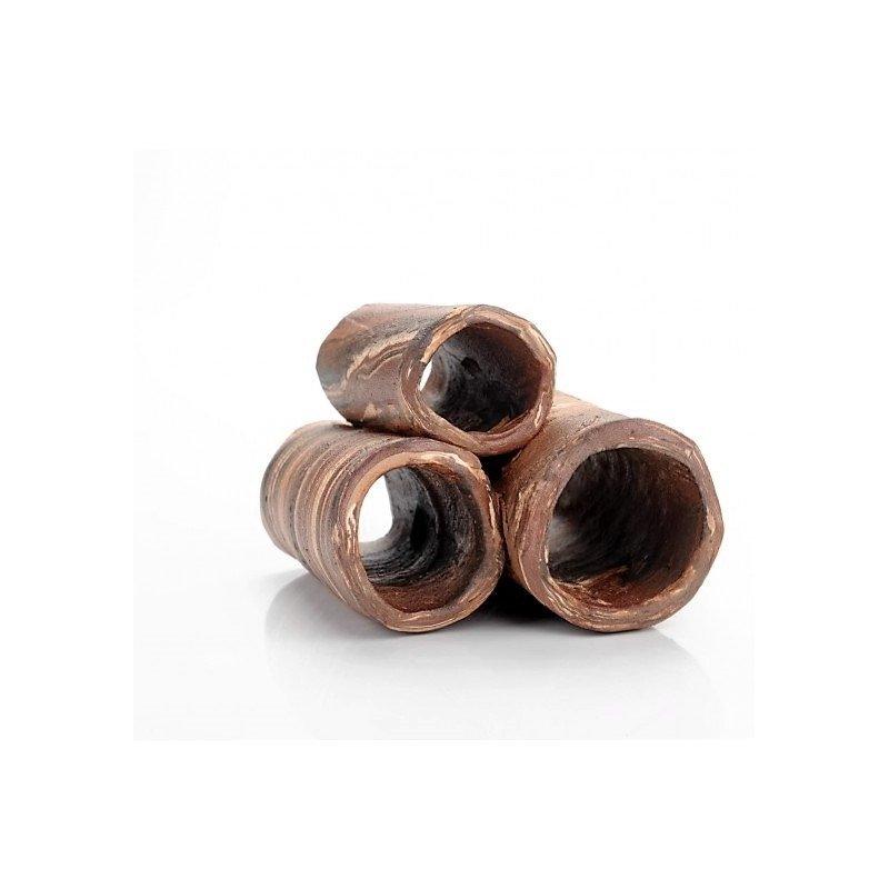 Block von Röhren unterschiedlicher Größe dunkel ca. 110x90x70mm