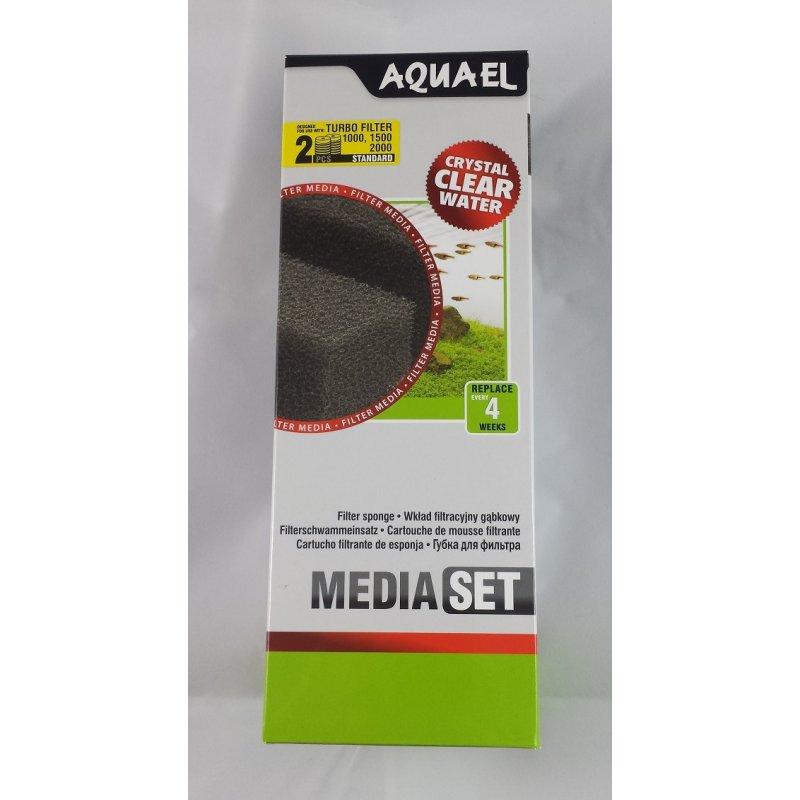 Ersatzschwamm Filterschwamm für Aquael Turbo 1000/1500/2000 2 Stück