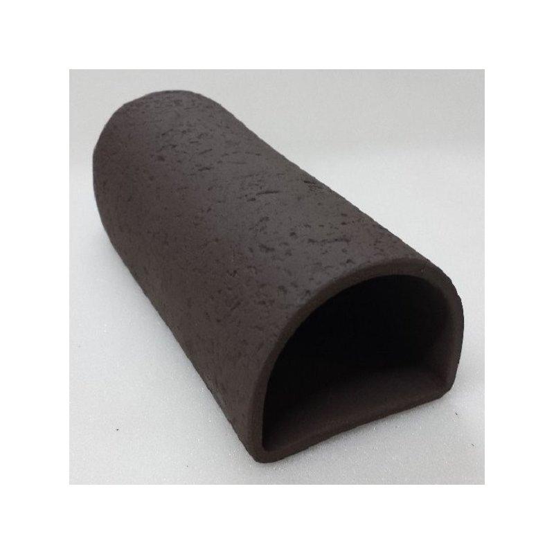Fronteingangshöhle 18 cm schwarz mit Muster