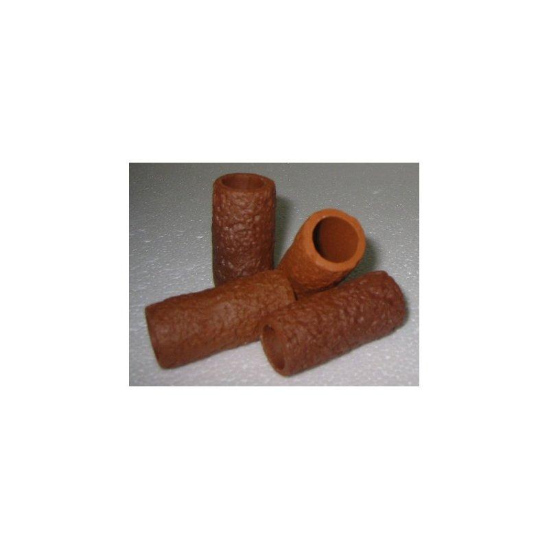 Garnelen / Krebsröhre ca. 5 cm terra mit Muster