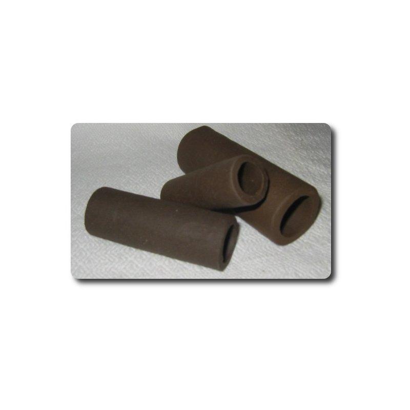 Garnelen / Krebsröhre ca. 7 cm schwarz/braun