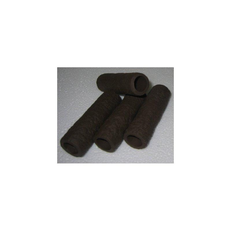 Garnelen / Krebsröhre ca. 7 cm braun/schwarz mit Muster