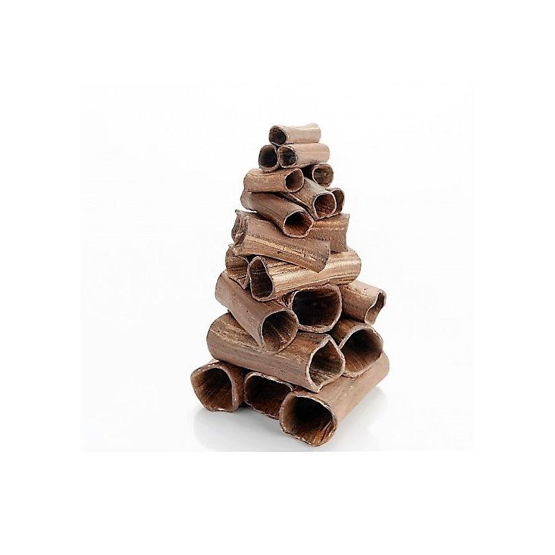 Garnelenturm - Stapel aus Röhren dunkel ca. 100x90x200mm