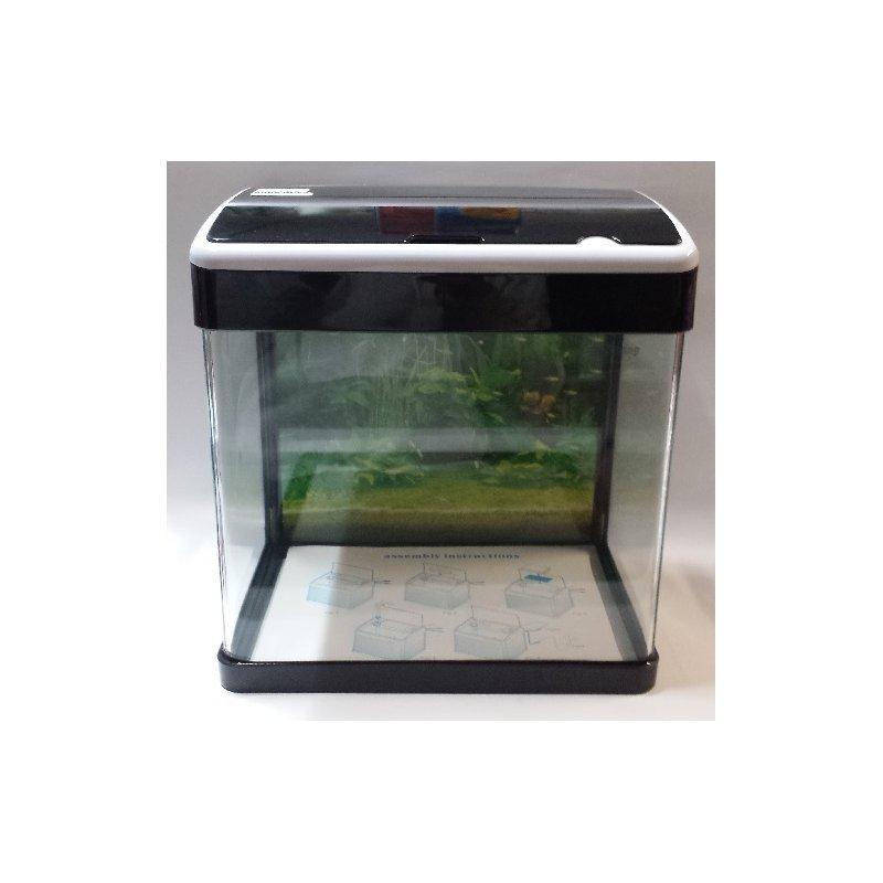 Komplett LED-Aquarium - 32 Liter schwarz/weiß