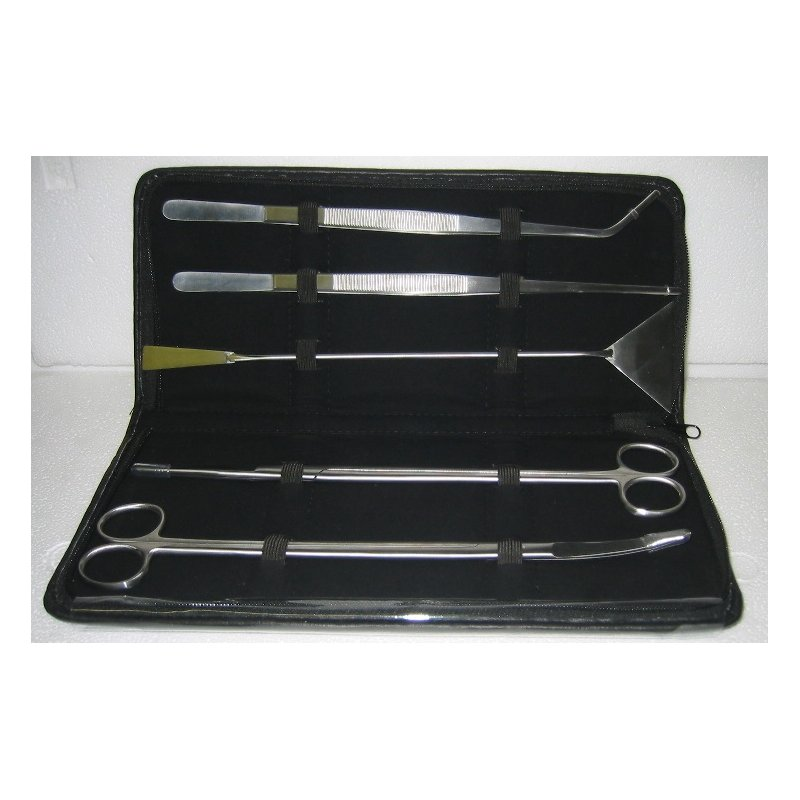 Nano Aquascaping Set - 5 teilig - Pflanz-Schere, Pflanz-Pinzette u. Spatel