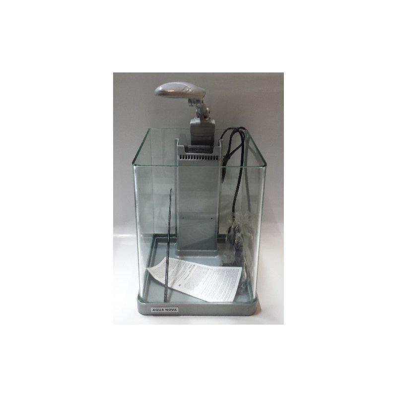 Nano-Komplett LED-Aquarium - 10 Liter in silber
