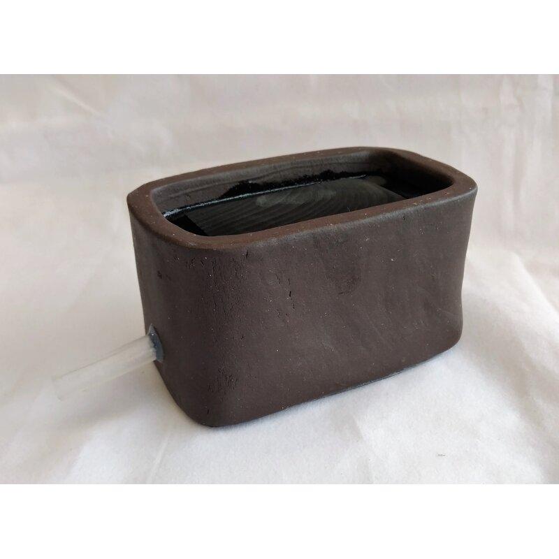 keramischer Diffusor / Luftstein schwarz ca. 105x60x55mm